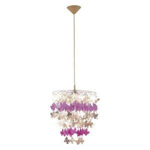 Závěsné svítidla Alfa 13820 bílo-fialová