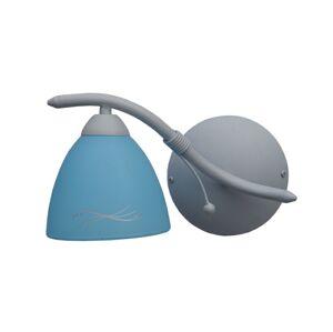 Nástěnné svítidlo Sigma 42737 POLO šedá/modrá